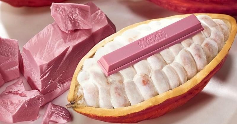 La marque Kit Kat va commercialiser pour la première fois en Europe une barre au chocolat rose