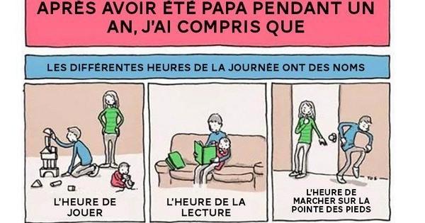 9 illustrations qui montrent à la perfection ce que c'est que d'être un jeune papa !