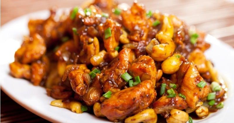 Voyagez en Chine avec le poulet impérial, un plat sauté et épicé aux noix de cajou !