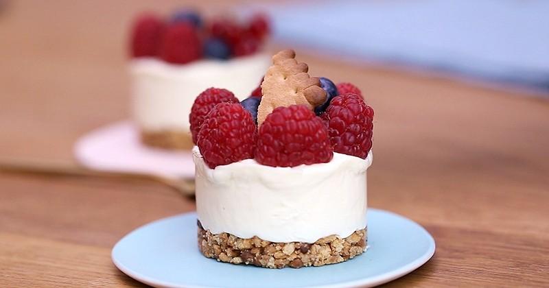 Gourmand, fruité, le cheesecake à la Danette saveur vanille nous fait craquer!