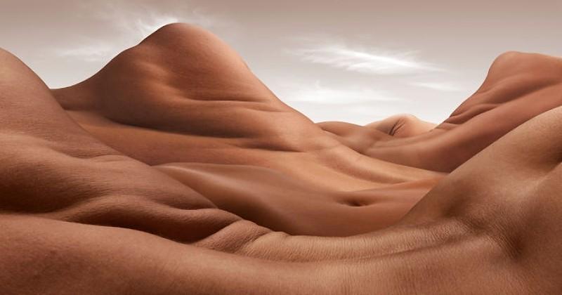 Ce photographe crée des paysages désertiques à partir de corps humains et c'est à couper le souffle
