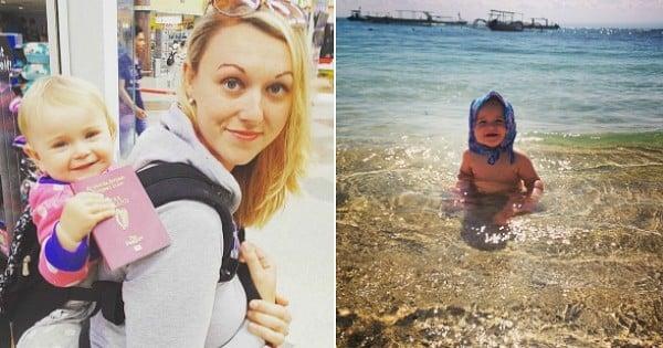 À 31 ans, elle part à l'aventure autour du monde avec son bébé d'à peine 10 semaines sur le dos ! Les photos sont à couper le souffle...