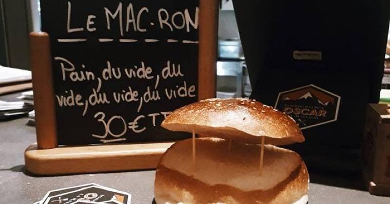 Le Mac Ron, le burger vide qui coûte cher lancé par un food truck de Haute-Savoie !