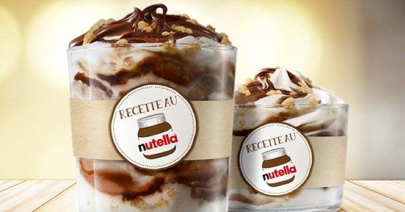 Burger King dévoile un nouveau dessert au Nutella