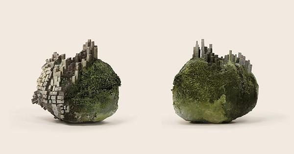 Cette artiste représente la relation entre l'homme et la nature de façon formidable : prodigieux !