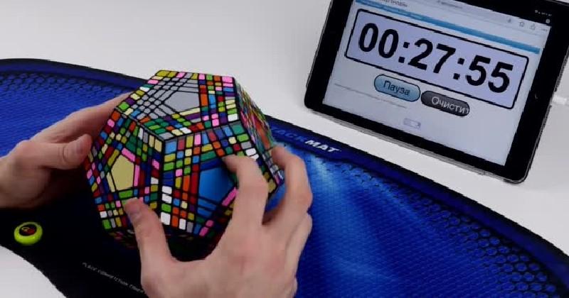 Les fans de Rubik's cube vont surement apprécier cette performance de Cubeday !