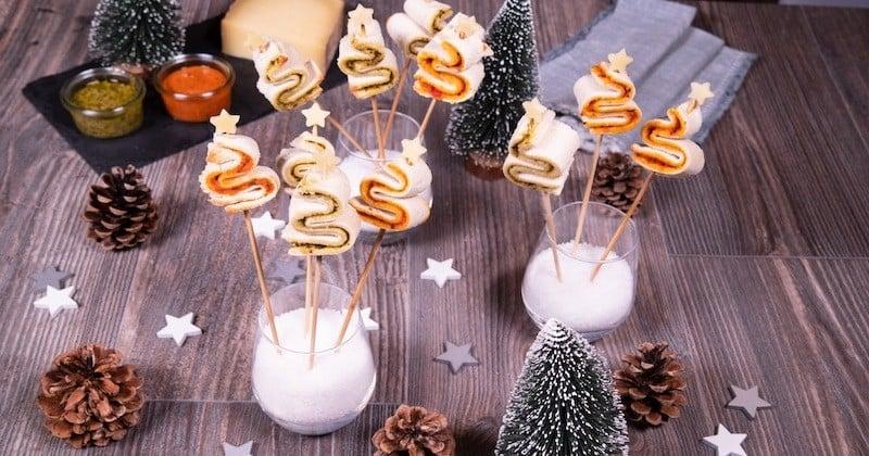 Twistez vos apéros de fêtes avec ces mini sapins aux 2 pesto