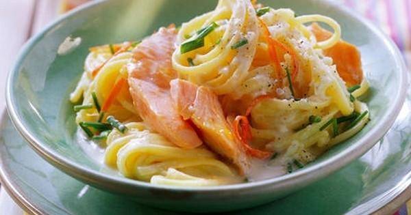 linguines au saumon et à la sauce citron : le plat qui va vous régaler !