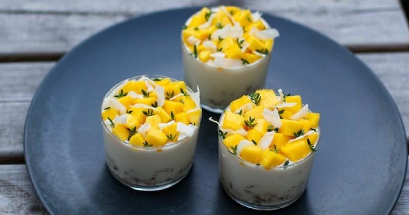 Tiramisu mangue et noix de coco