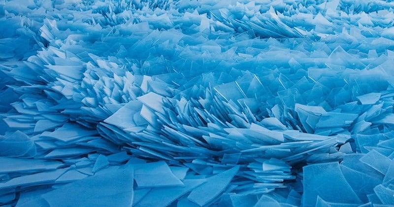 États-Unis : le lac Michigan gelé et morcelé en mille morceaux par le vortex polaire