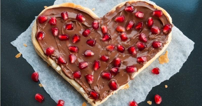 La Pizza chocolat-caramel express et délicieuse pour la Saint-Valentin!
