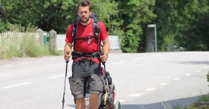 Kévin Plessis a terminé sa traversée européenne à pied et a collecté 6700 déchets en six mois