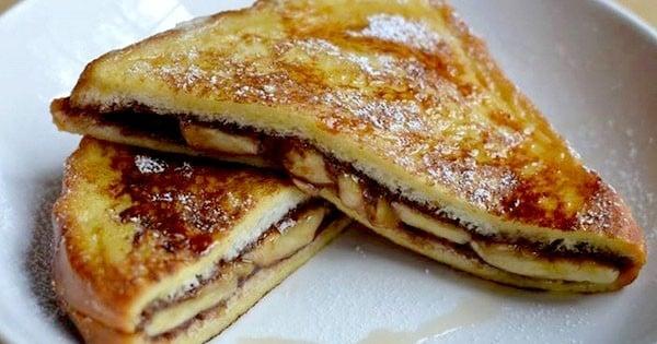Craquez pour cette recette de pain perdu au chocolat et à la banane: dingue !