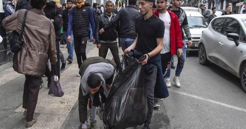 Algérie : des manifestants nettoient les rues après la dispersion des cortèges