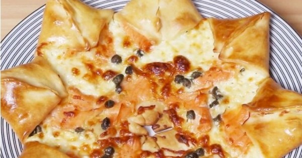 La « pizza étoile » au saumon, un dîner délicieux et amusant à faire !