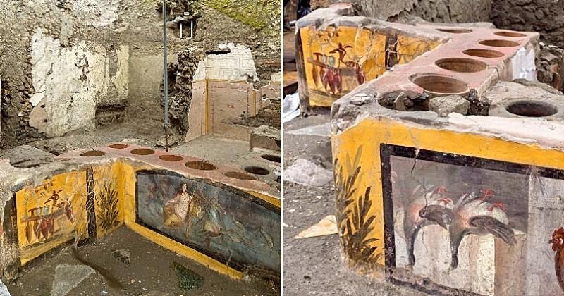 Pompéi : un « fast-food » antique découvert dans un état de conservation exceptionnel vient d'être exhumé