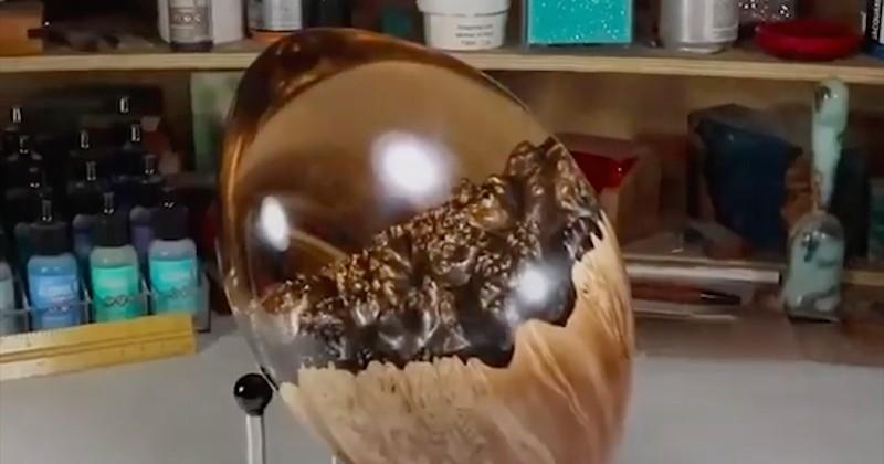 DIY : il fabrique un ballon de football américain à partir de bois et de résine