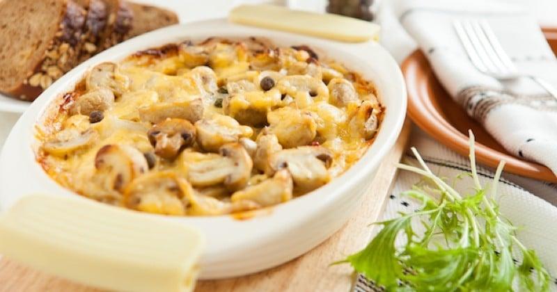 Notre gratin pommes de terre et champignons va vous combler !