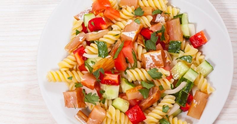 Salade de pâtes au saumon