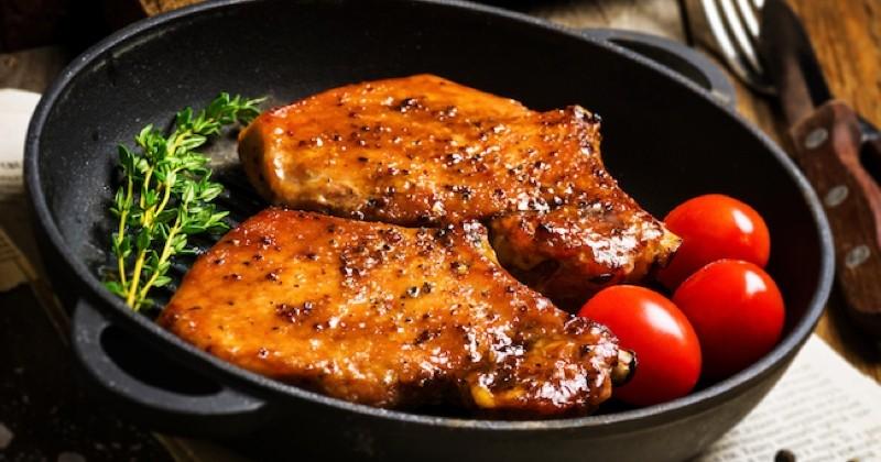 côtelettes de porc au miel