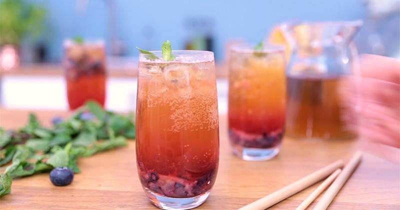 Réalisez un délicieux cocktail au cidre à base de thé noir et de Calvados !