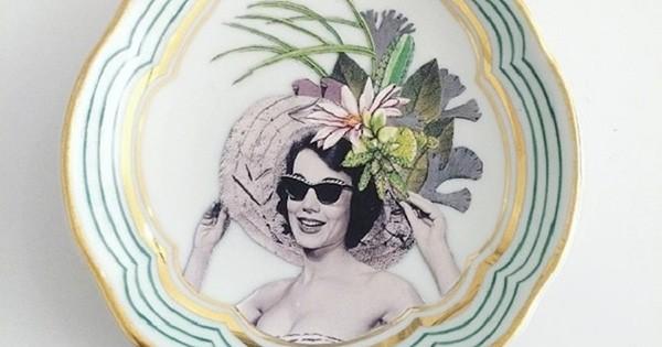 Elle crée des assiettes décoratives façon « vintage pop »... et quelque chose nous dit que vous allez vouloir les mêmes !