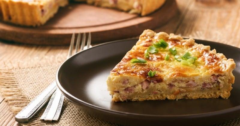 quiche au bacon et au fromage