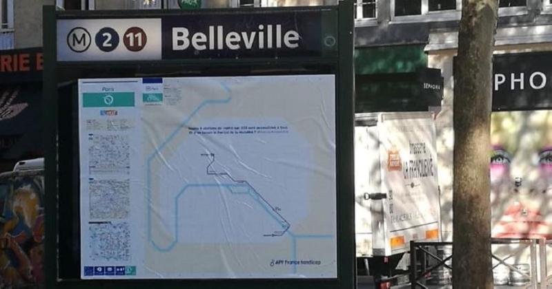 Mobilité : ce plan du métro parisien montre le peu de stations accessibles aux personnes handicapées