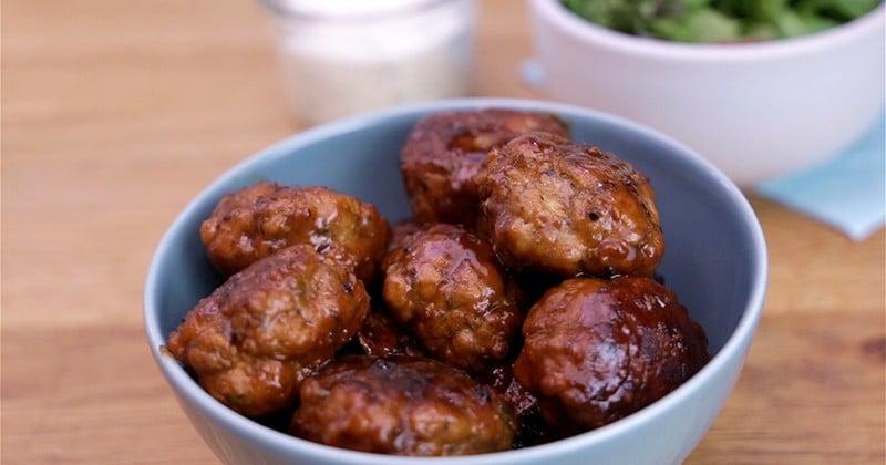 Craquez pour les boulettes de porc au thym et sa sauce au yaourt grec basilic et cumin