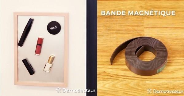 Fabriquez vous un cadre magn tique id al pour ranger son - Comment ranger son maquillage ...