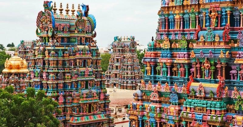 Partez en Inde découvrir le sublime (et très coloré) temple de Mînâkshî