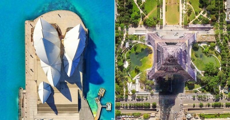 Découvrez des monuments célèbres comme vous ne les avez jamais vus grâce à ces photos de drone prises à la verticale