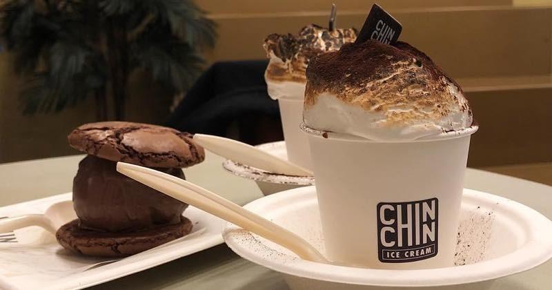 Le Chin Chin Hot Chocolate,un chocolat chaud avec de la pâte de marshmallow vegan brûlée au chalumeau !