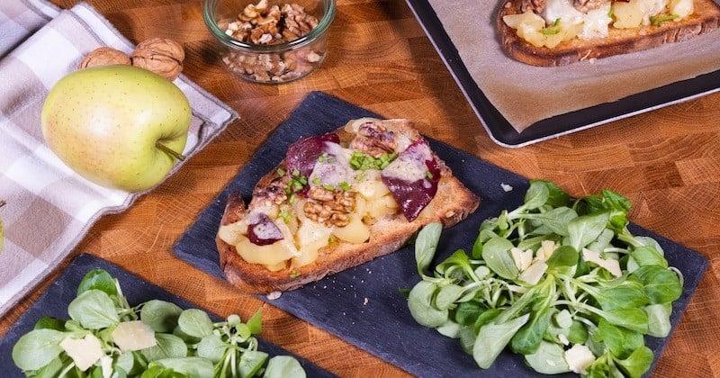 Tartines de pommes du Limousin AOP et Magret Recette