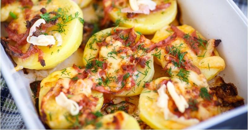 pommes de terre gratinées bacon