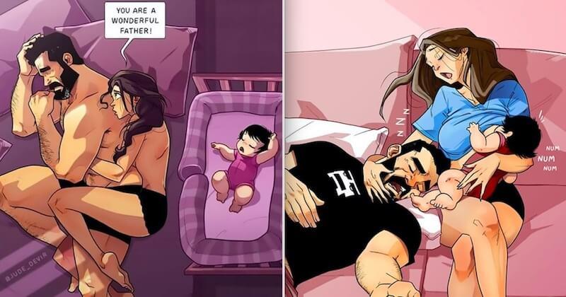 Yehuda Devir met à nouveau en scène sa petite famille, à travers des illustrations à la fois drôles et touchantes