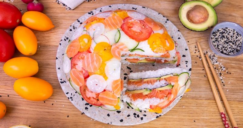 Laissez-vous surprendre par notre étourdissant dôme au saumon façon sushi!