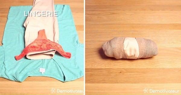 Comment faire pour que les vêtements prennent le moins de place possible dans la valise ? UNE SOLUTION EXISTE ! En plus, elle trie les tenues...