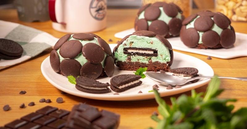 Cheesecake menthe-chocolat et Oreo Recette