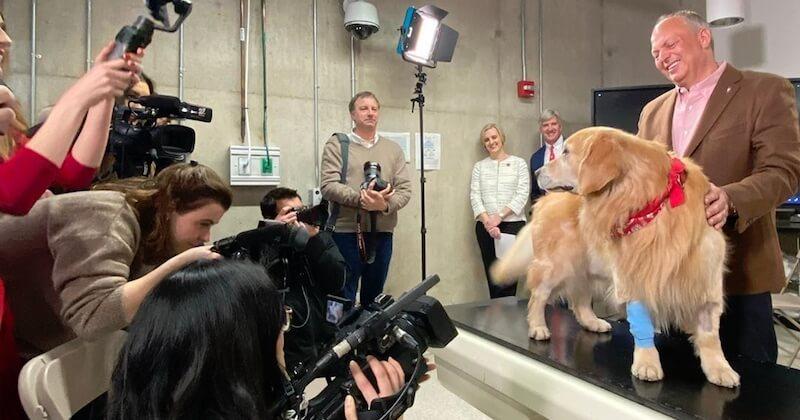 Cet homme achète une annonce du Super Bowl de 6 millions de dollars pour remercier les vétérinaires qui ont sauvé son chien du cancer