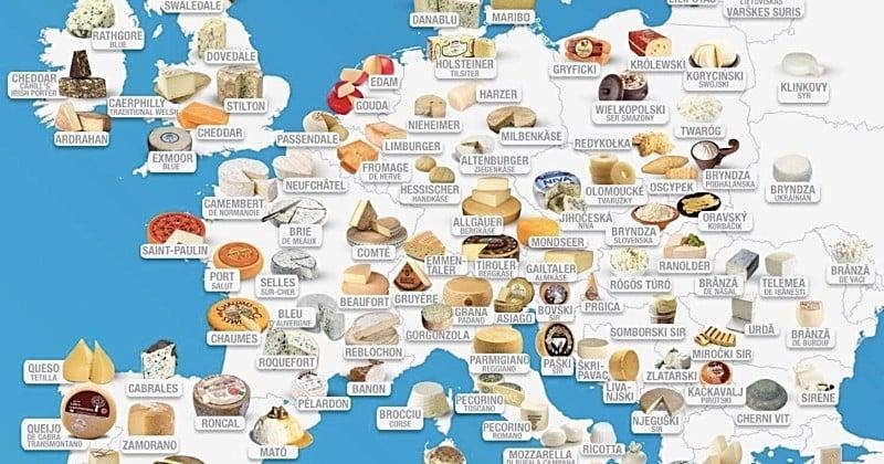 Les fromages les plus populaires du monde à découvrir à travers cette carte interactive