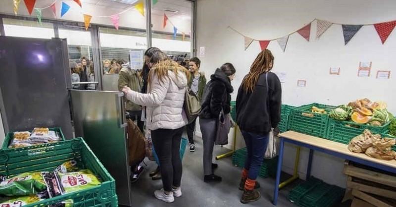 Une épicerie gratuite sur le campus de l'Université de Rennes 2 pour lutter contre le gaspillage et la précarité étudiante