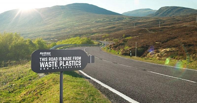 Des routes ont été construites à partir de plastique recyclé et elles sont plus solides que les routes ordinaires