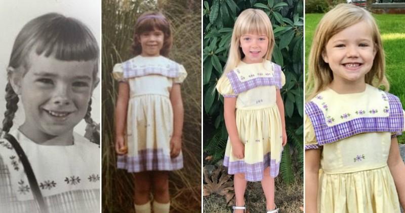 Pour leur tout premier jour d'école, les filles de cette famille portent la même robe depuis 67 ans