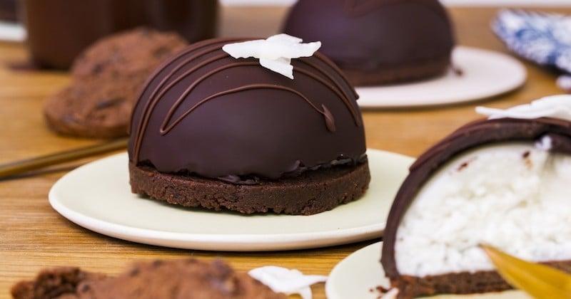 Craquez pour le dôme Bounty, un dessert élégant et accessible à tous!