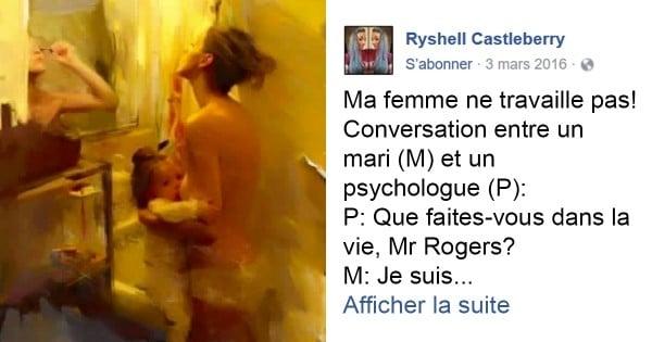 Parce que le rôle des mères au foyer est trop souvent dénigré, elle publie un hommage poignant devenu viral sur Facebook