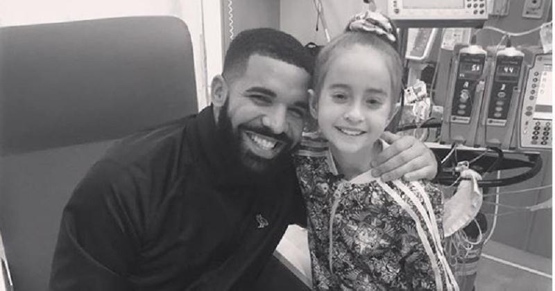 Cette petite fille malade fait le « In My Feelings challenge » de Drake à l'hôpital, la star lui rend une visite surprise