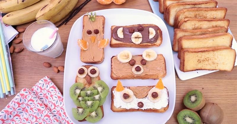 Le pain perdu s'incruste dans vos petits-déjeuners en prenant la forme des animaux de la forêt