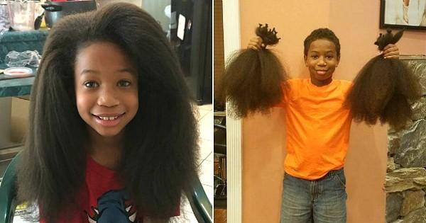 8 ans il se laisse pousser les cheveux pendant 2 ans pour les offrir aux enfants atteints du. Black Bedroom Furniture Sets. Home Design Ideas