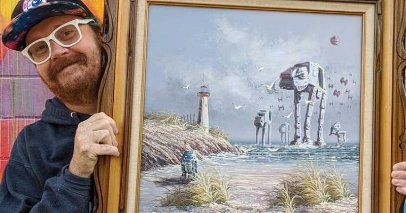 Cet artiste peint des références à Star Wars sur de vieux tableaux et le rendu final est tout simplement génial